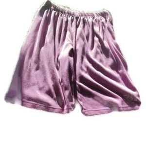 Only necessities purple womens 1x shorts flower